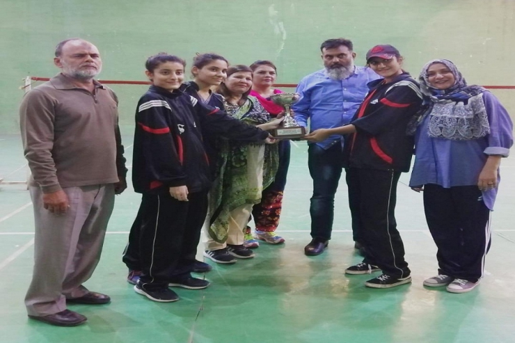 DHACSS College For Women runner up in inter college badminton organised by BIEK
